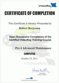 certification videoray